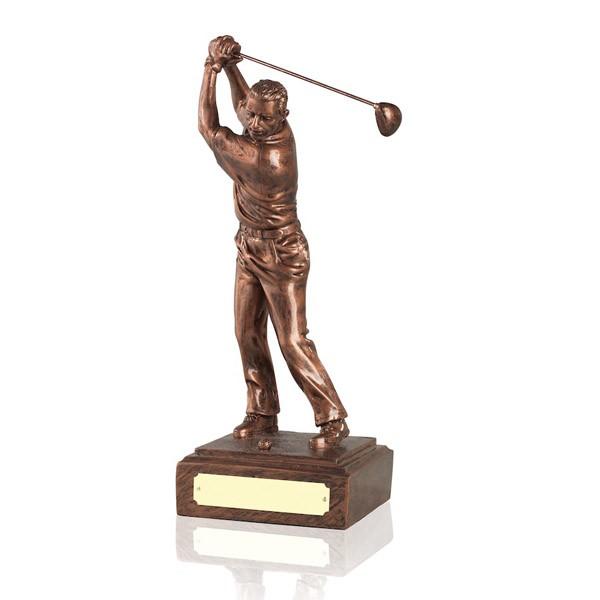 Male Golf Swing - Ant Copper Finish