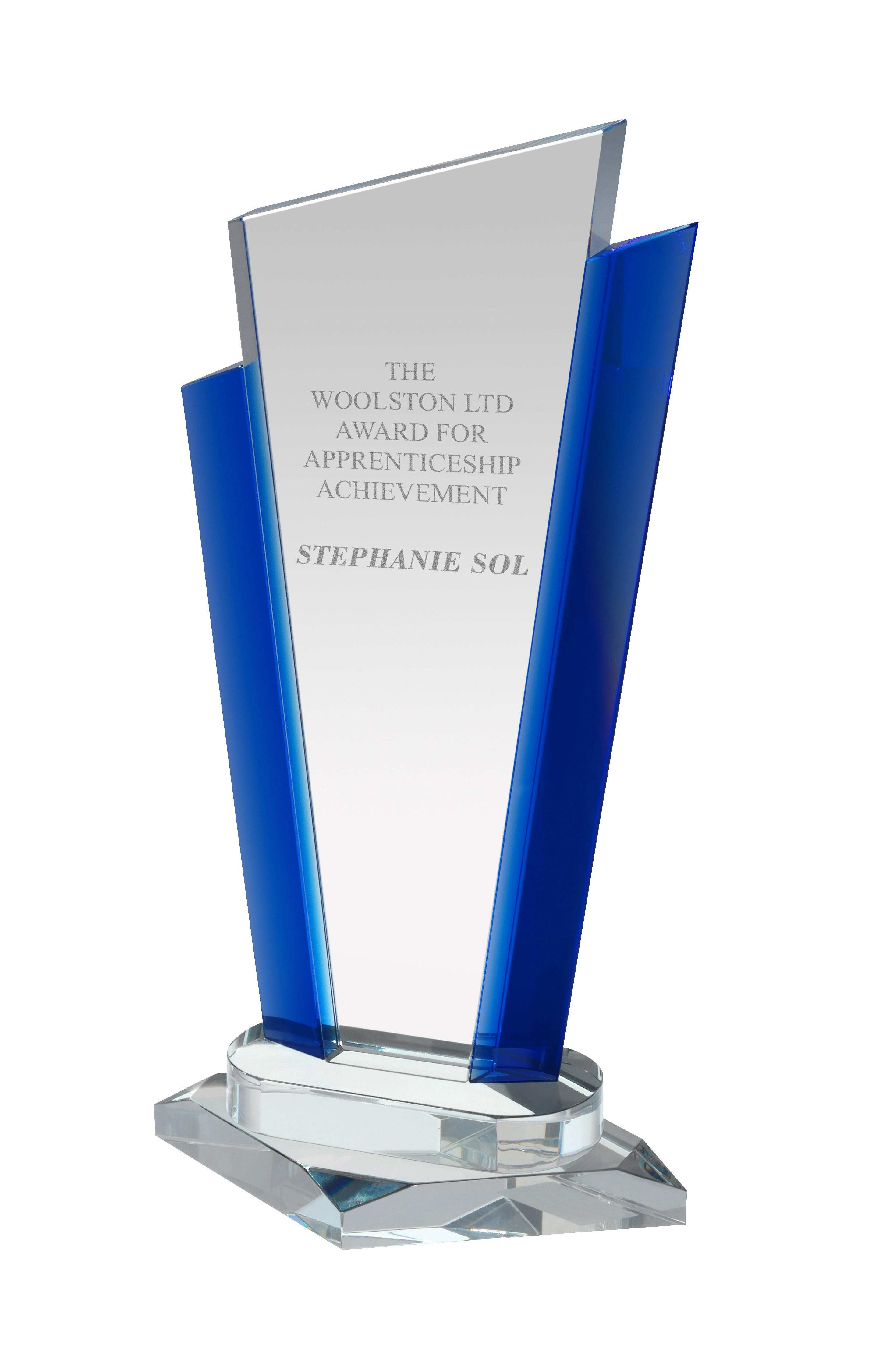 29cm Sig Crystal Award in Box