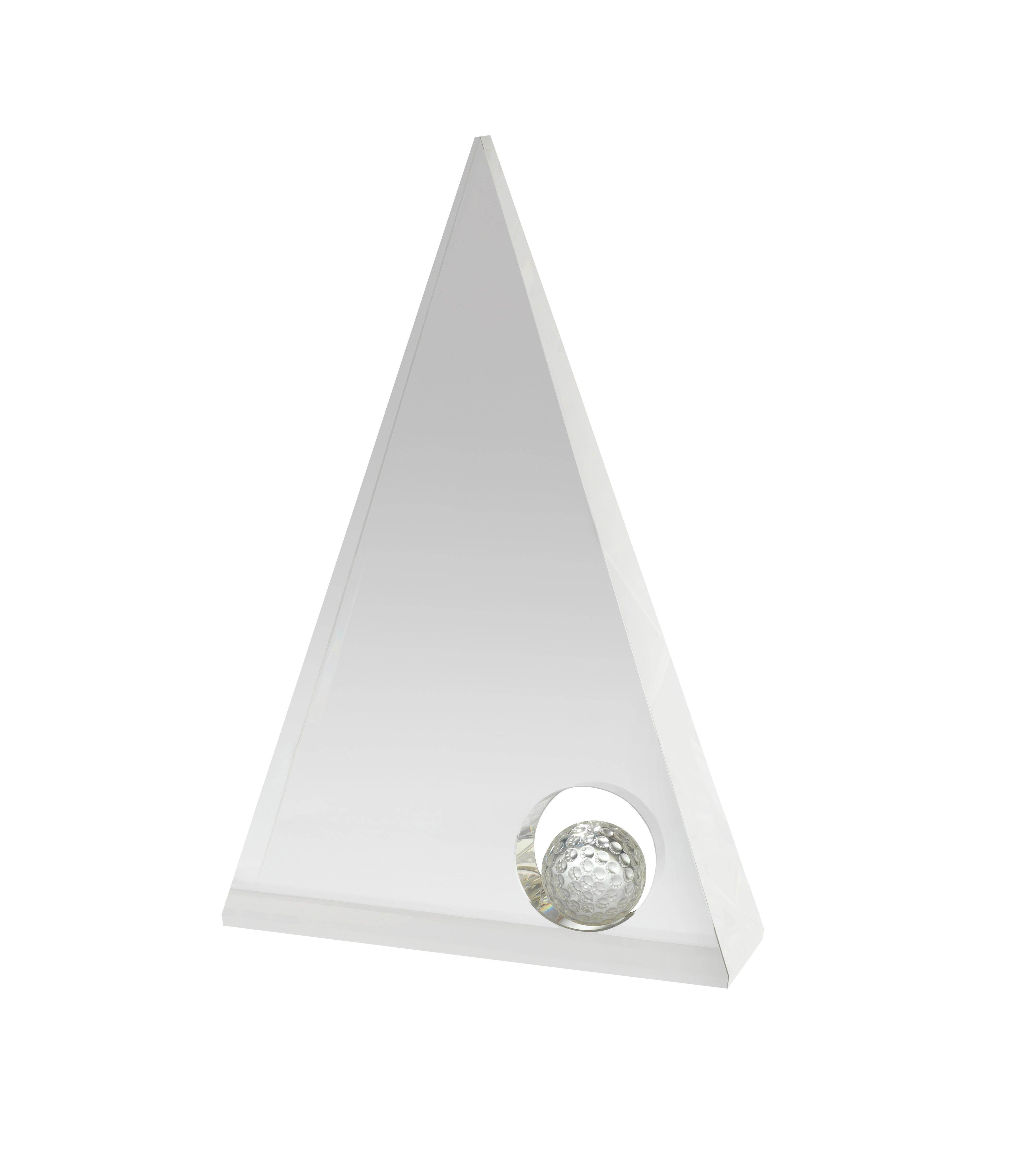 20cm Golf Crystal Award