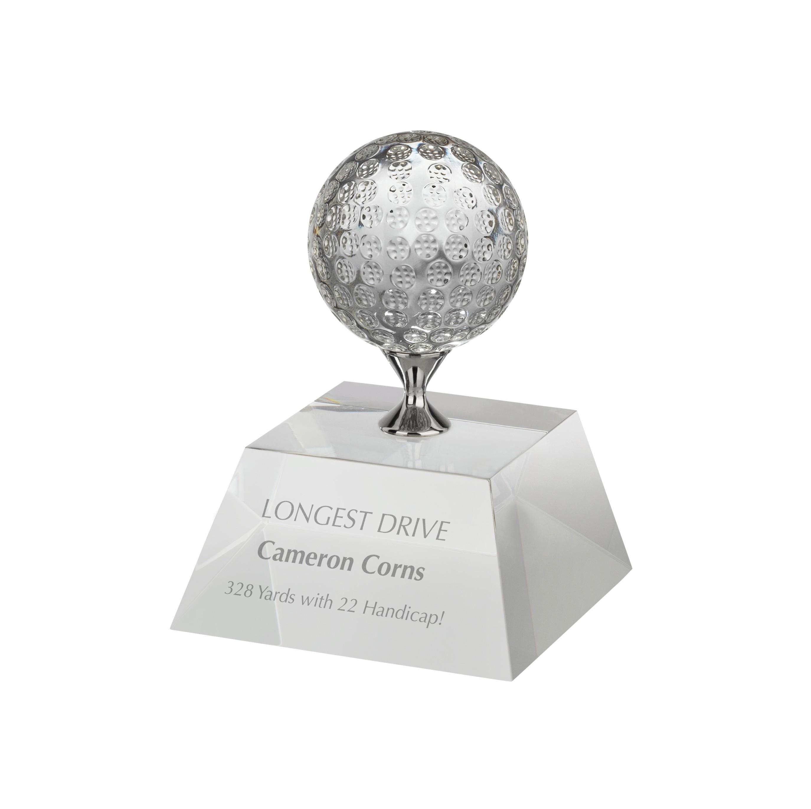12.5cm Golf Crystal Award