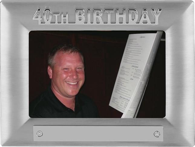 40th Birthday Photoframe