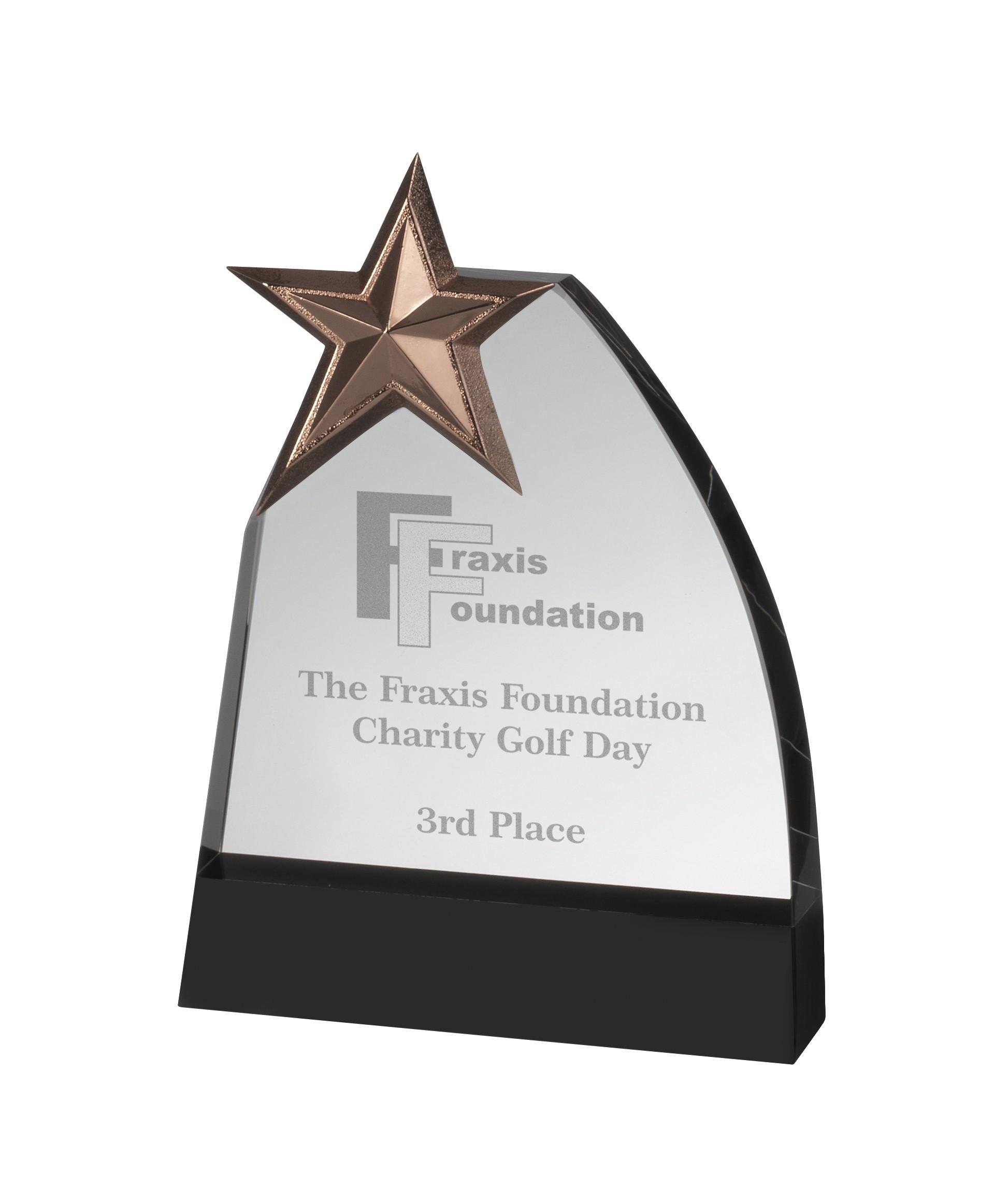 Crystal & MetalStar Award in Box