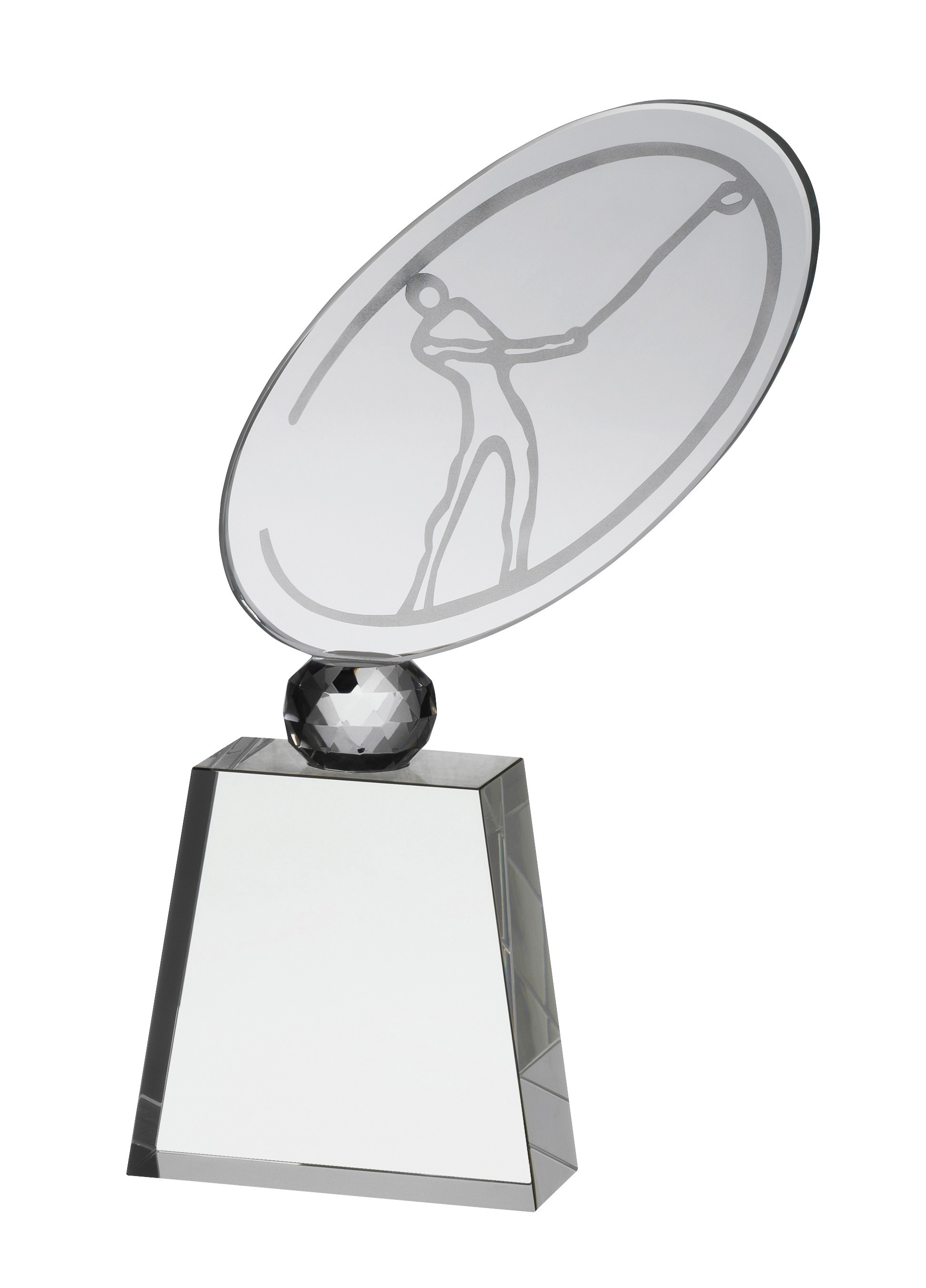 20cm Clear Crystal Golf Award in Box