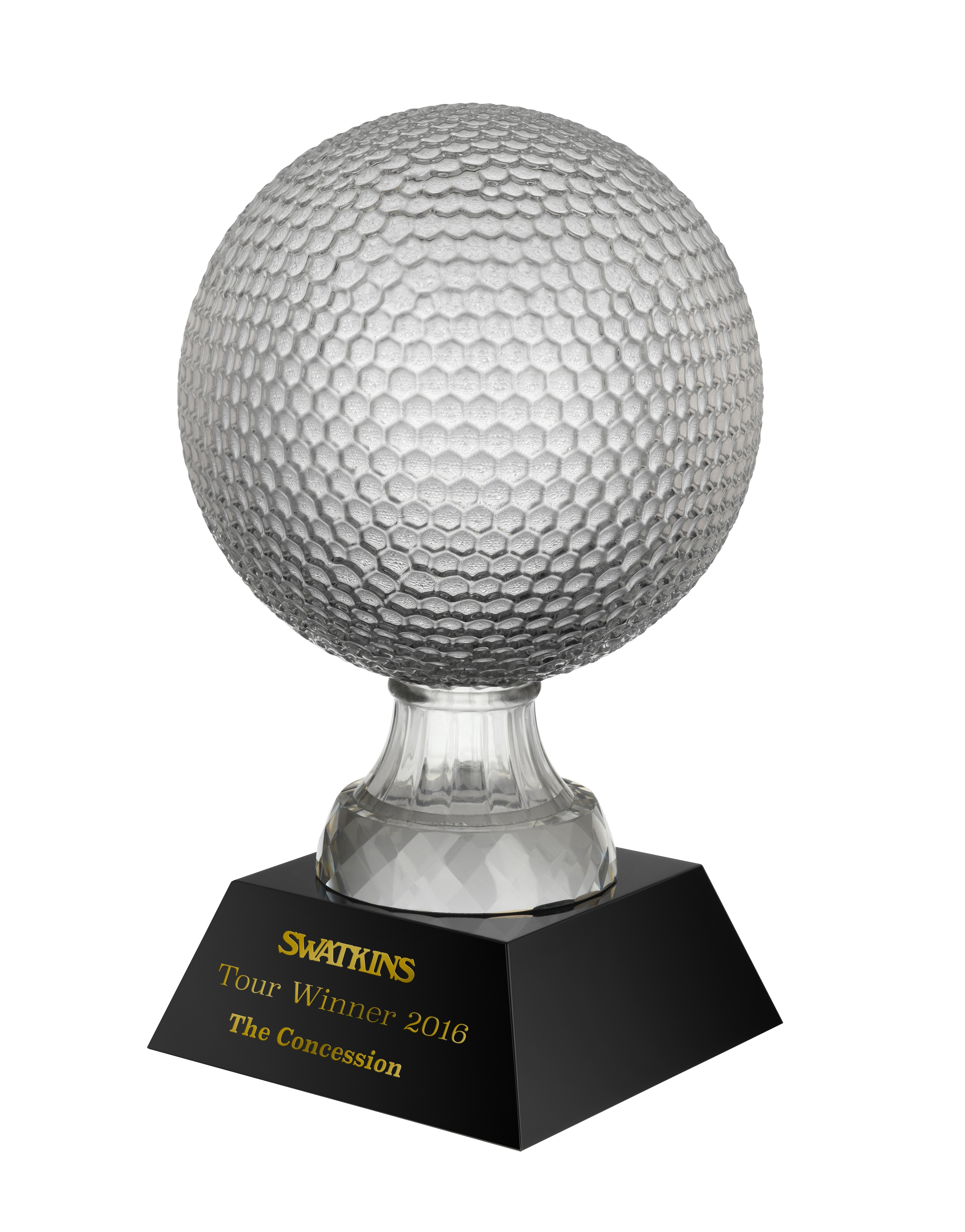 16.25cm Golf Crystal Award