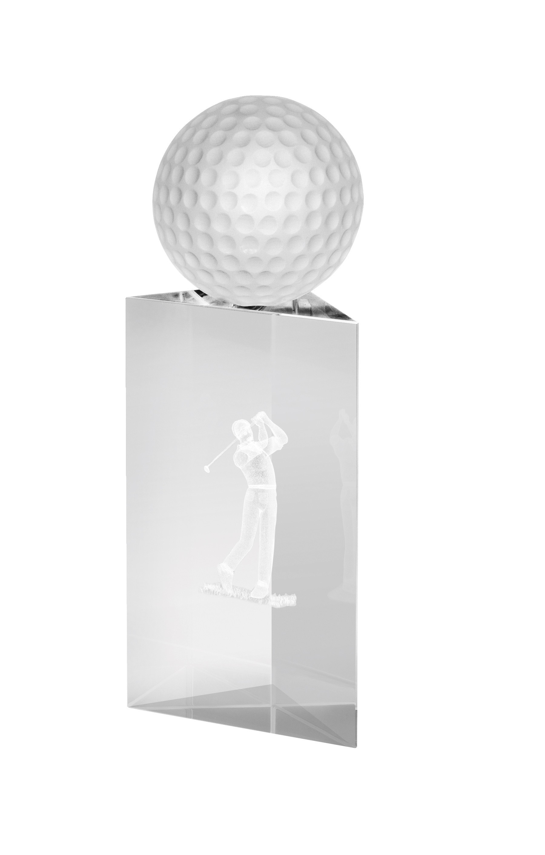 Clear Crystal Golf Award in Box
