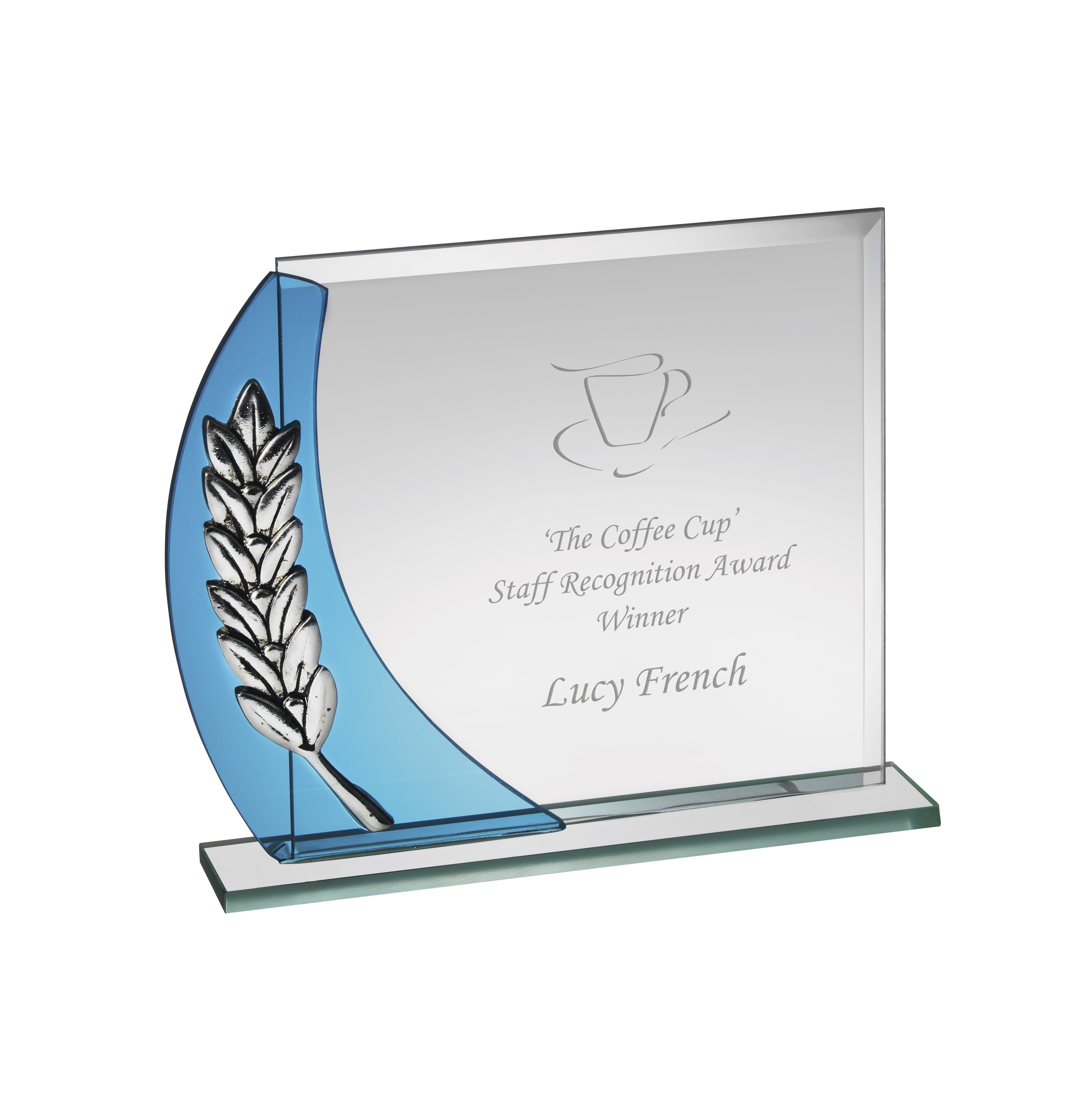 5.75 x 15cm Gls Award with Wreath in Box