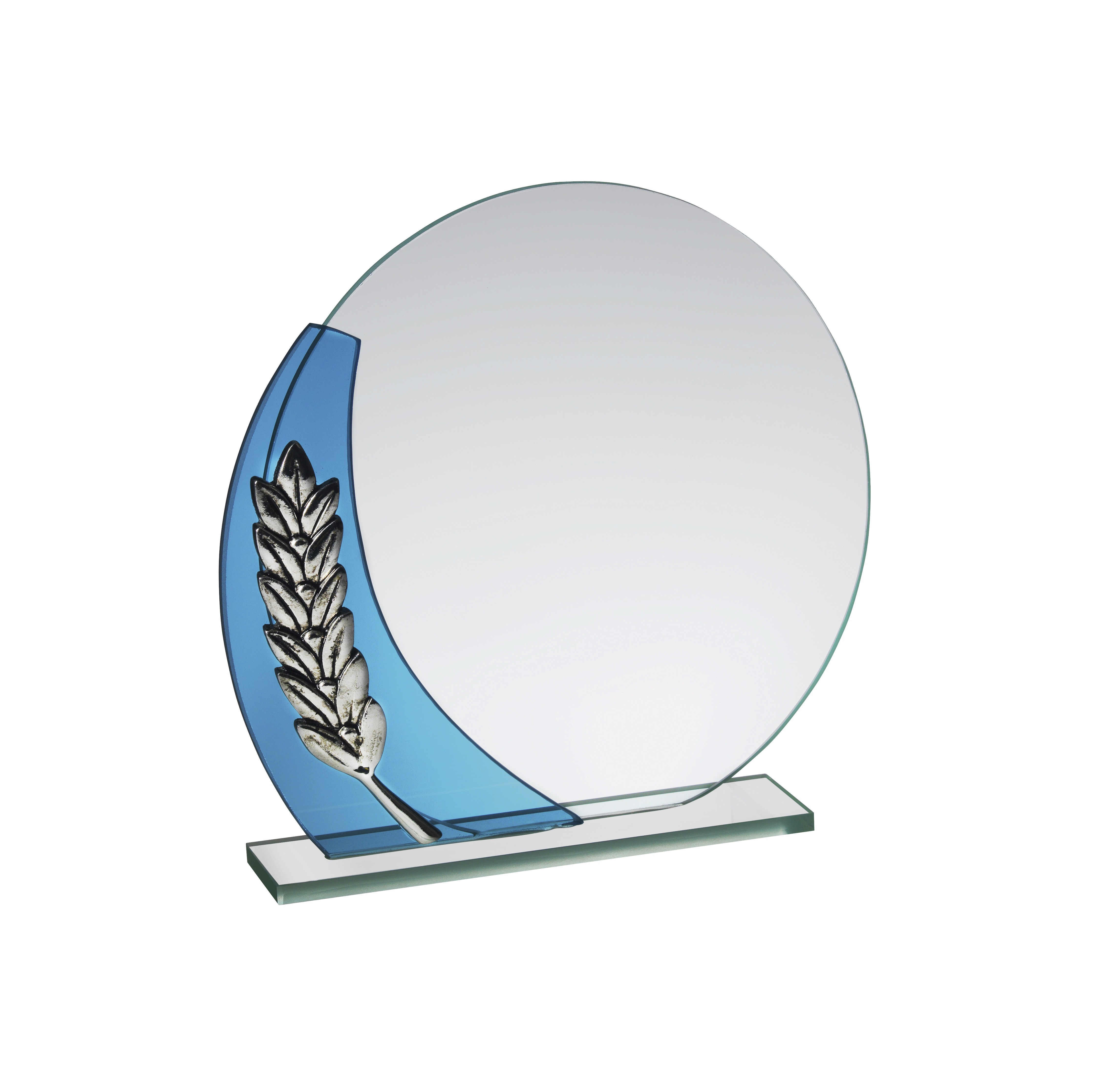 13cm Gls Award with Wreath in Box