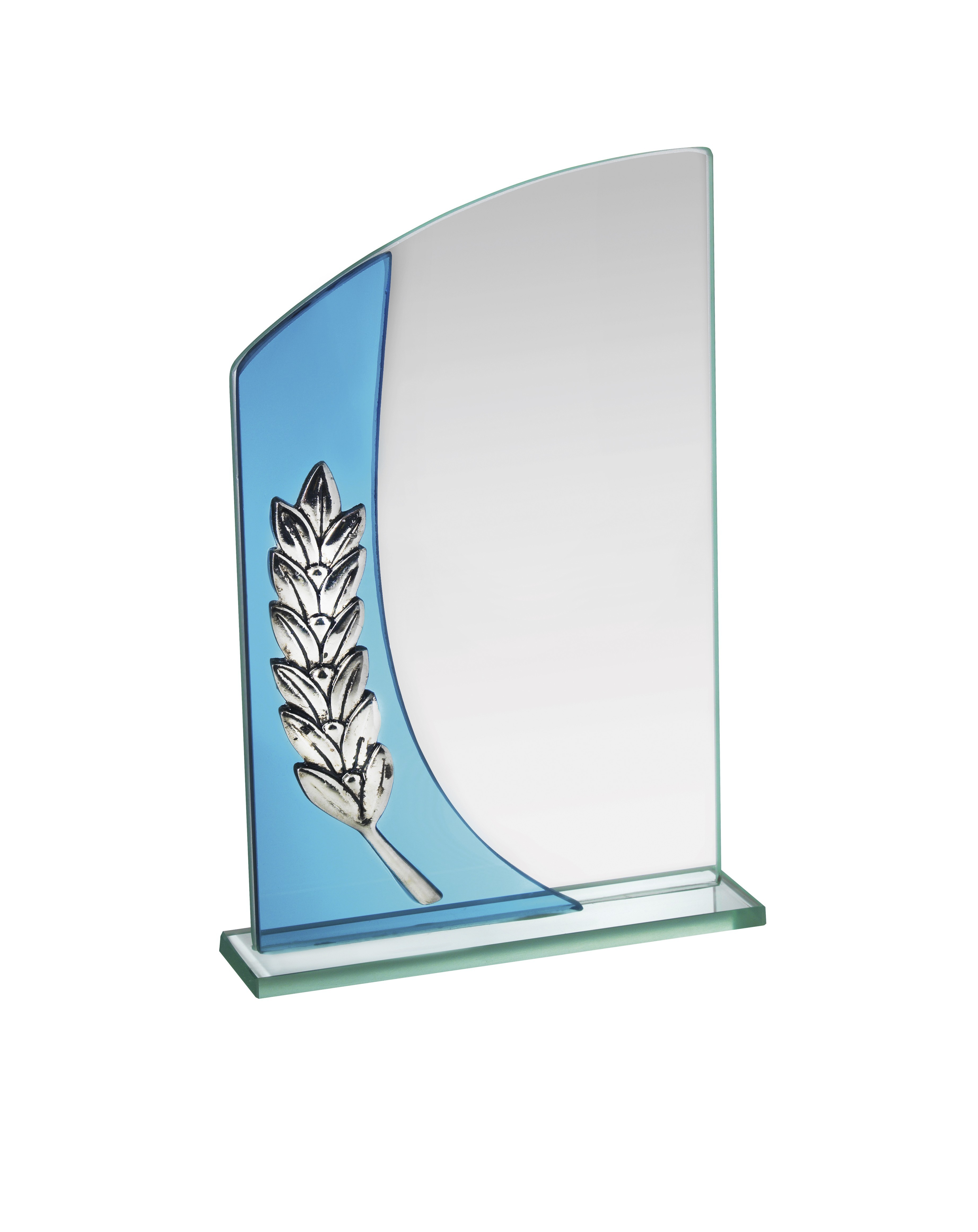 13.75cm Gls Award with Wreath in Box