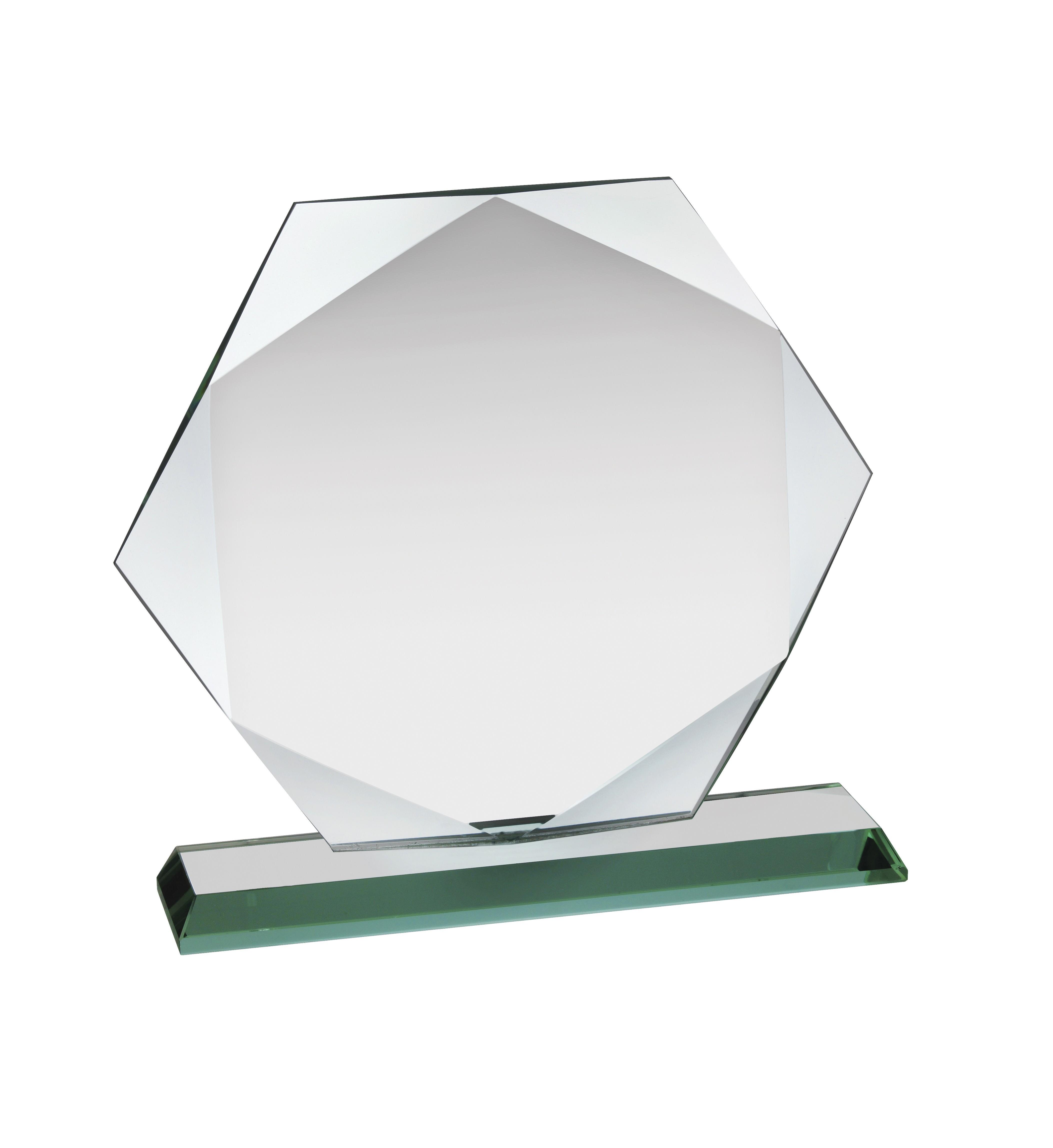13.5cm Jade Glass Award in Box