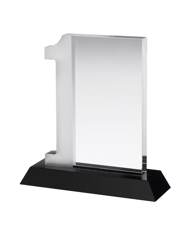17cm Crystal No.1 Award in Box