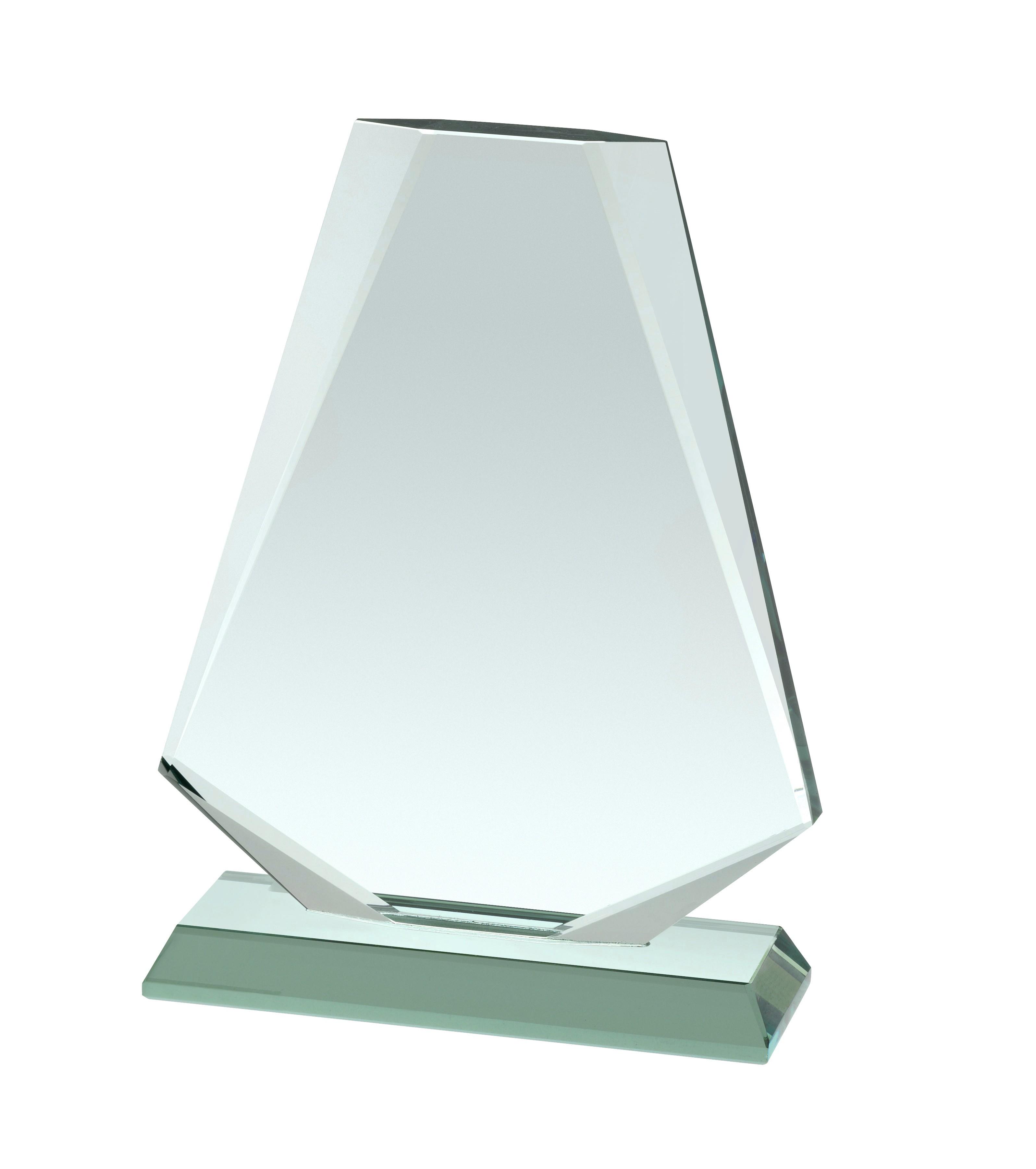 18cm Jade Glass Award in Box