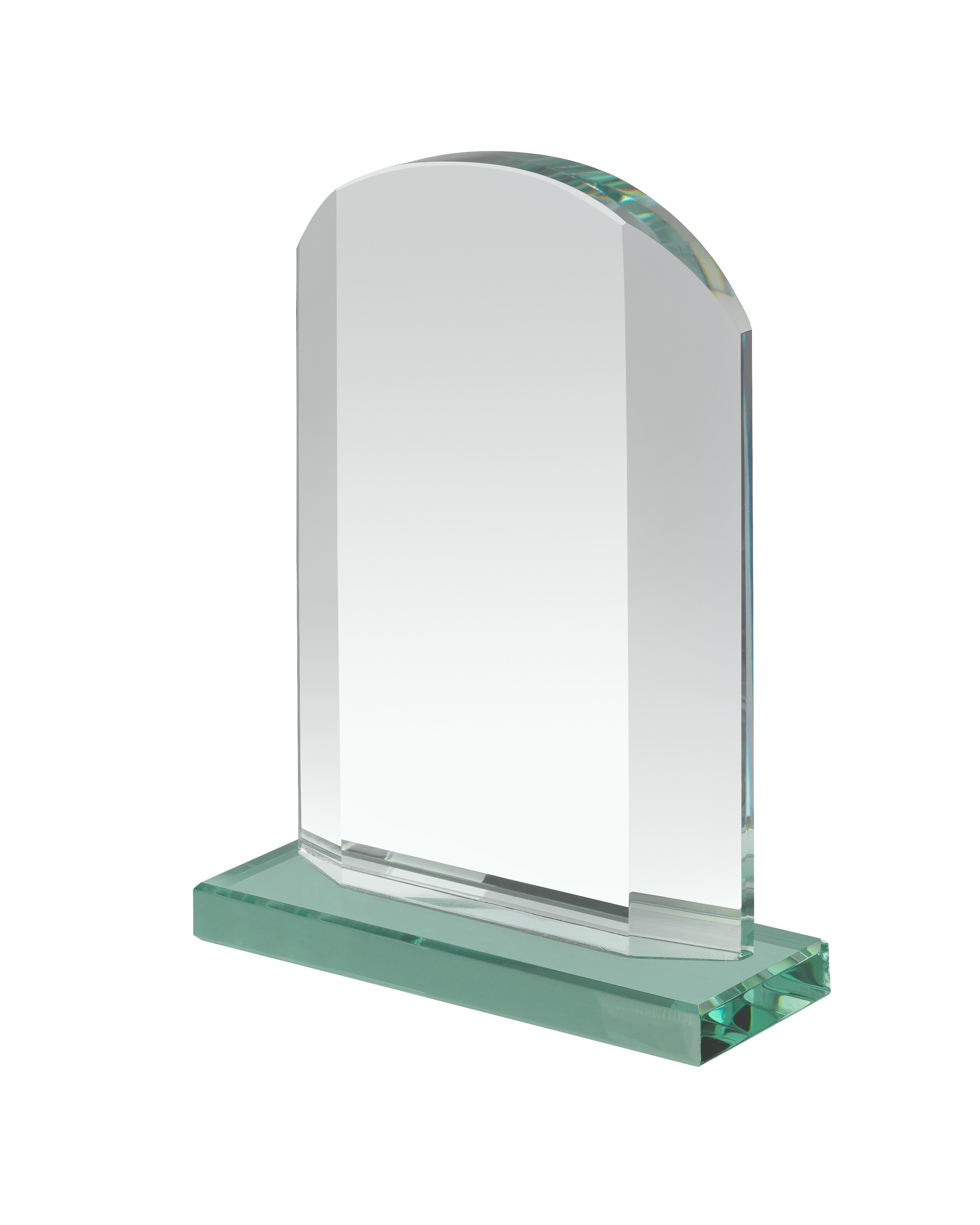 15.5cm Jade Glass Award in Box