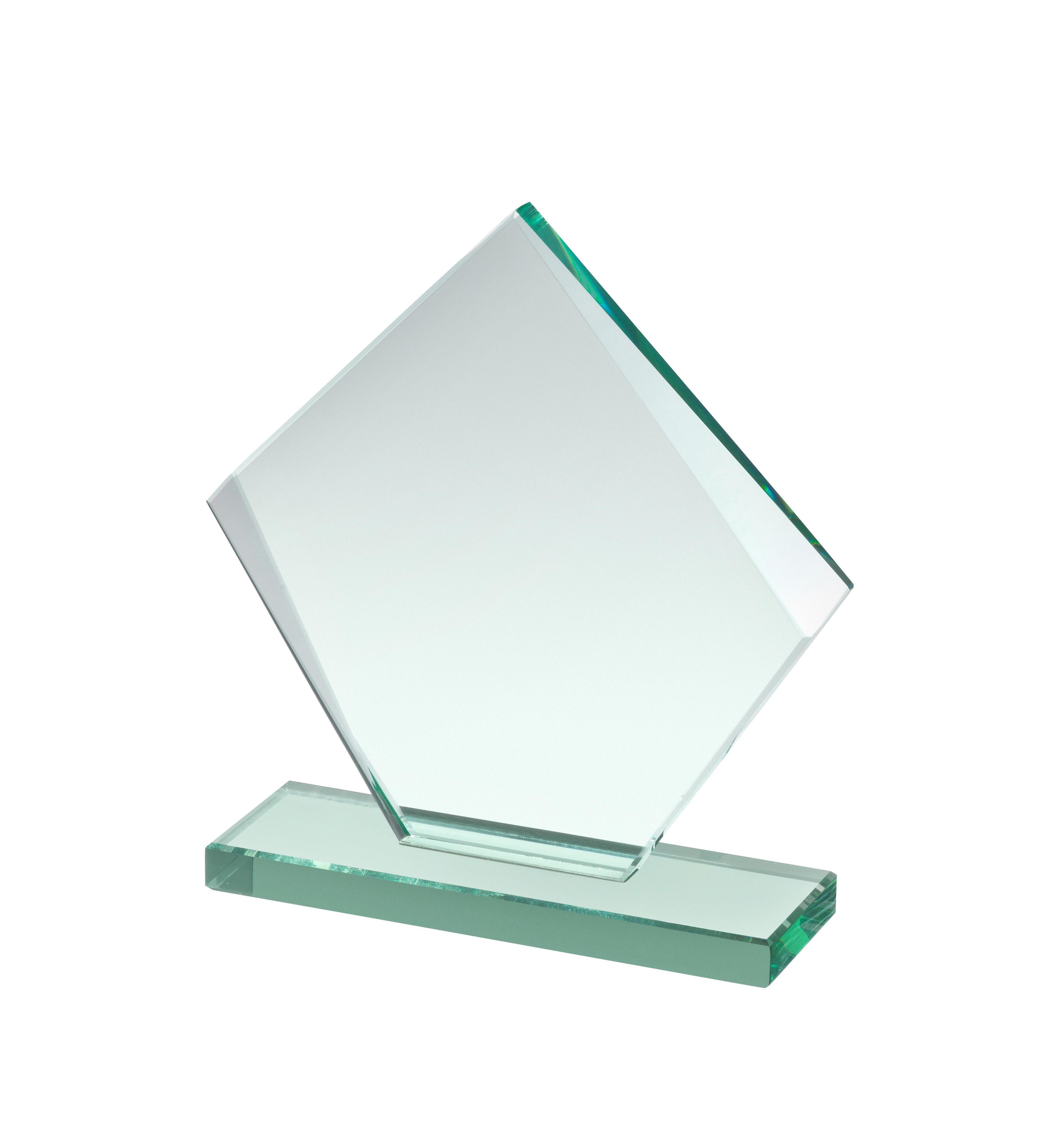 10mm Thick Jade Glass Rhombus Award