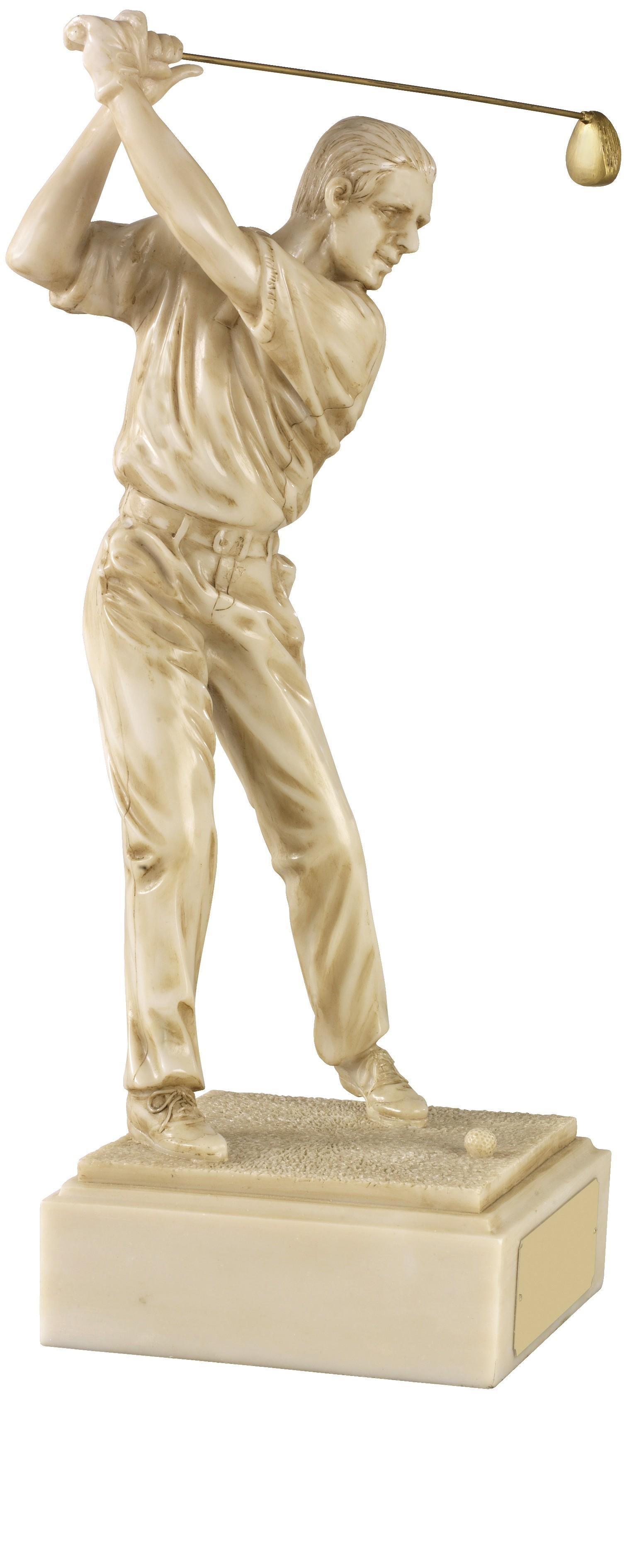 Male Golf Swing Lush Ivory Finish
