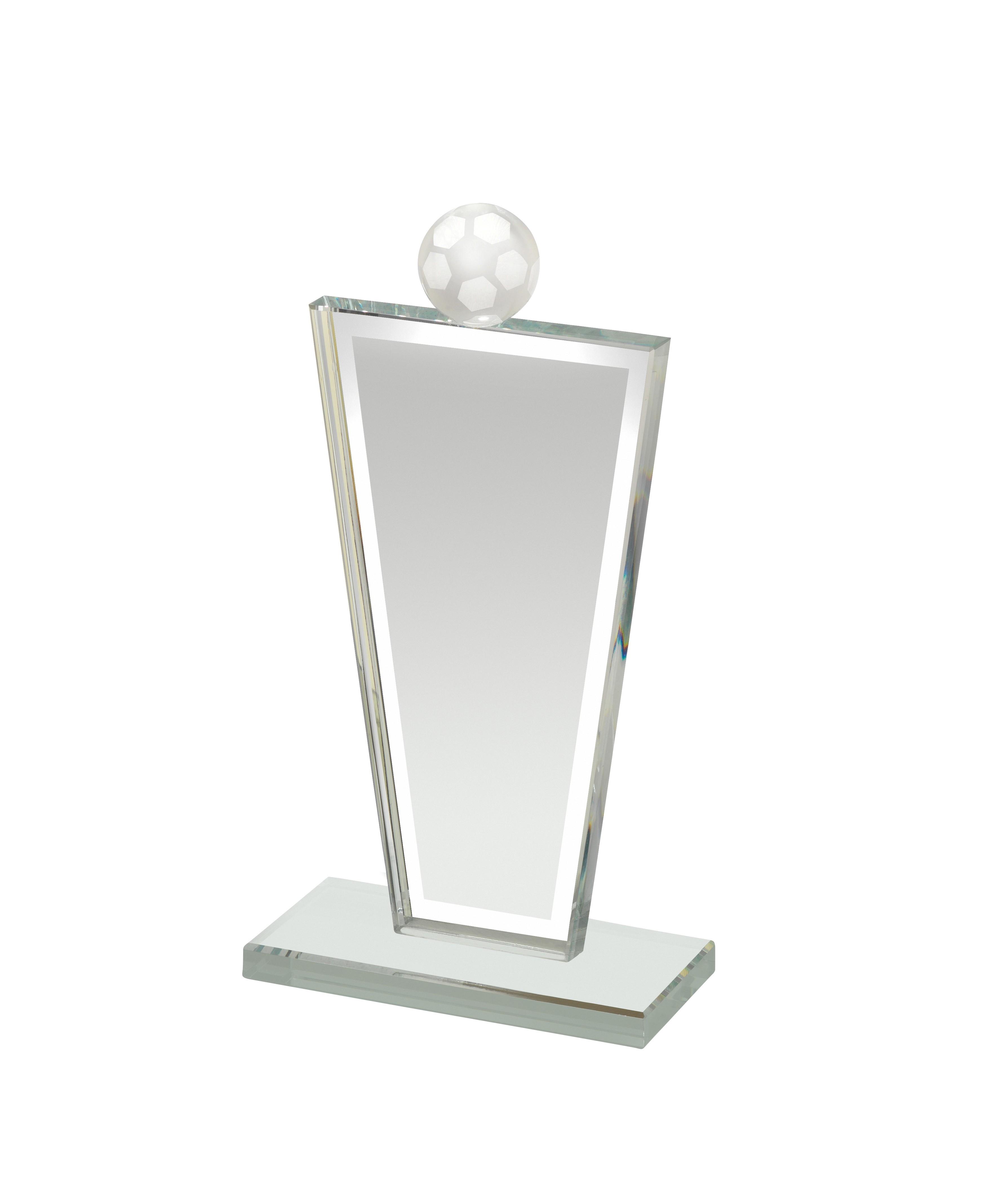 Glass Football Award in Box