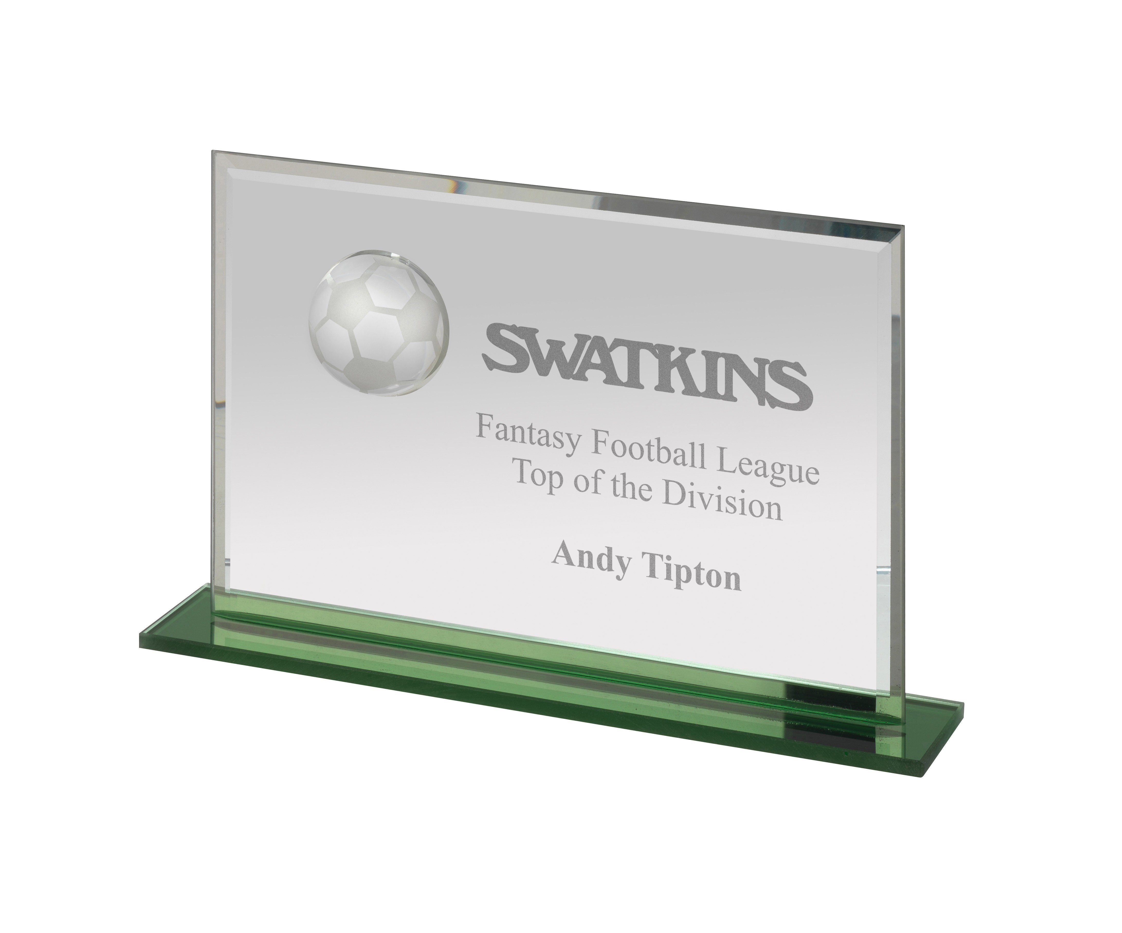 Glass Football Award in Box