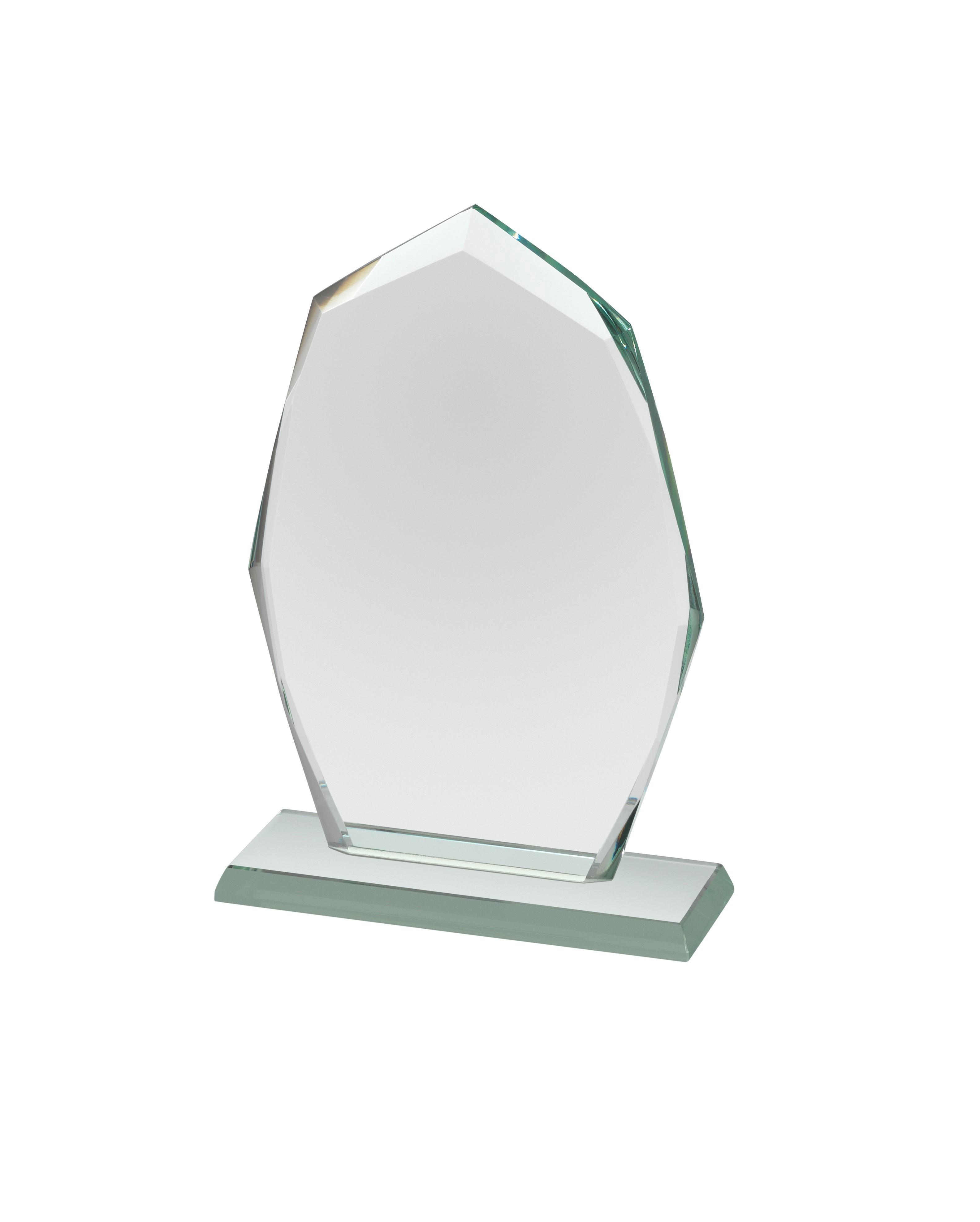 Mini Jade Glass Curved Award