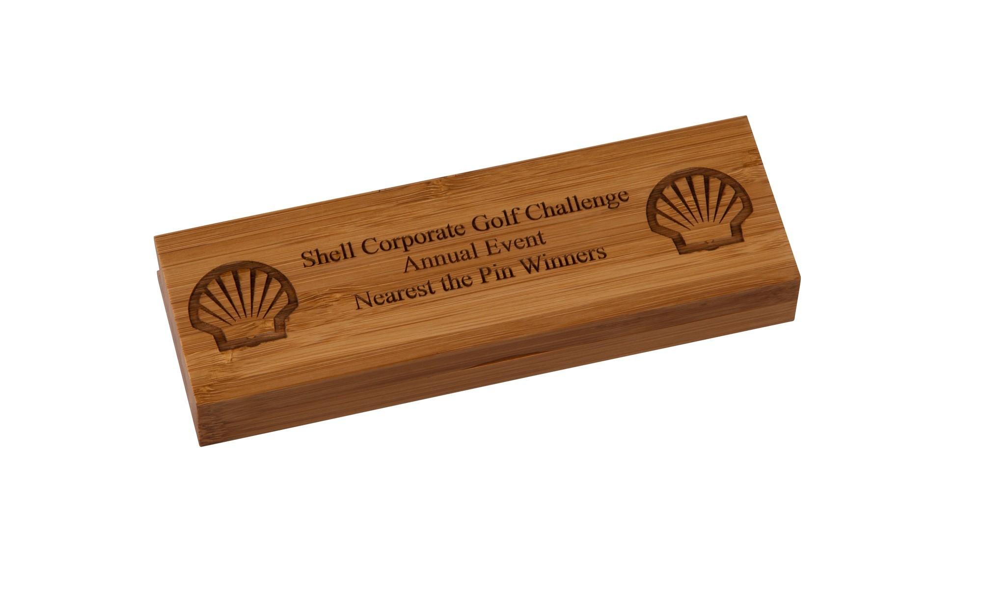Double Wooden Pen Case