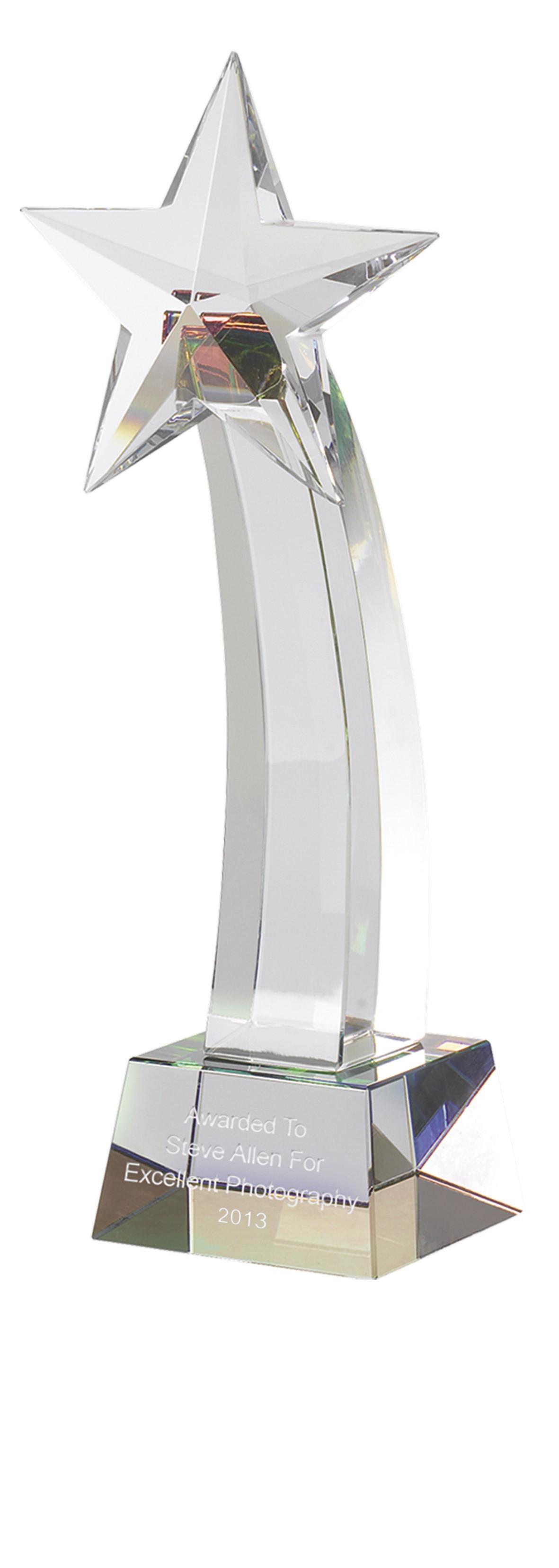 15cm Crystal Star Award