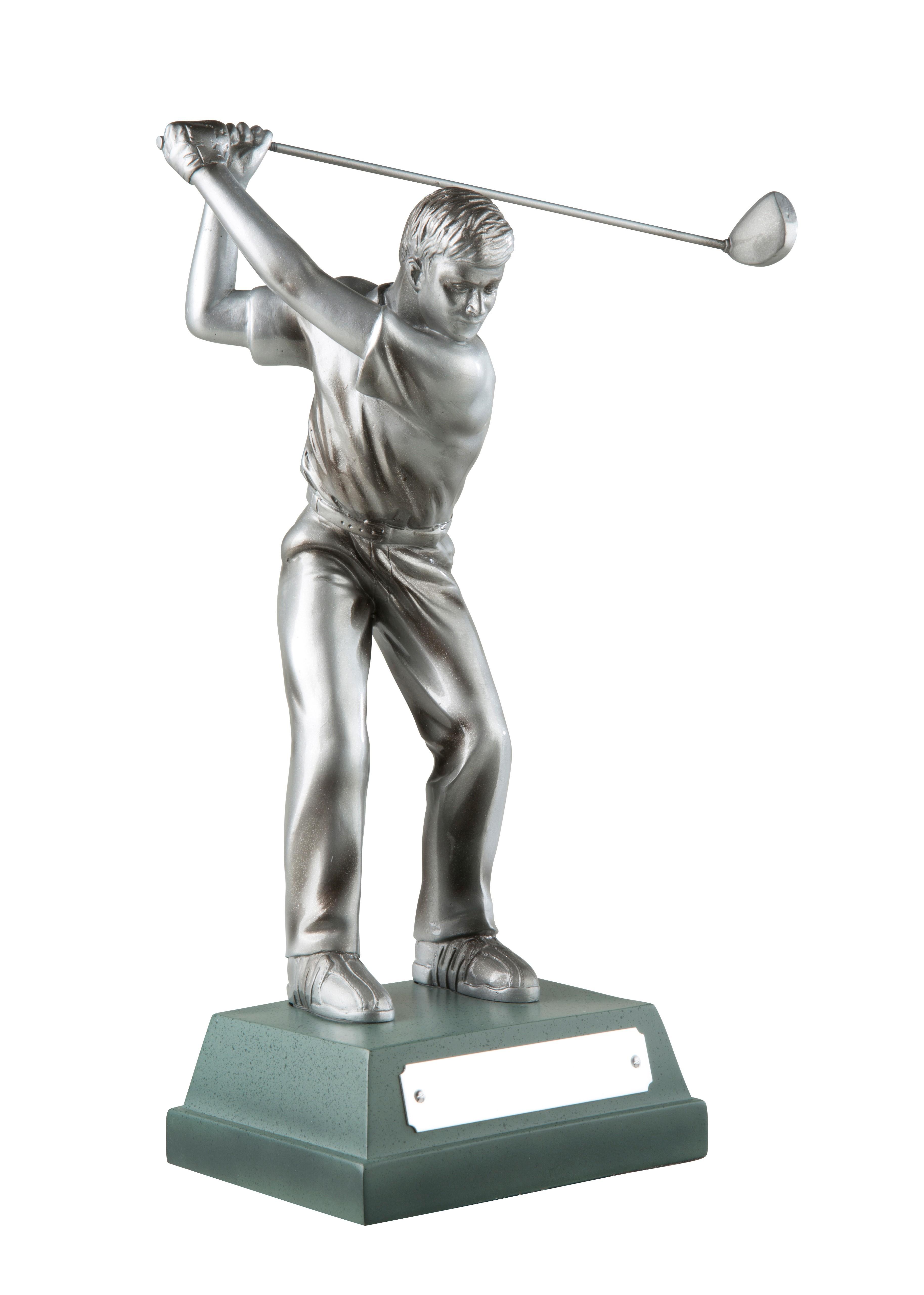 15cm Sil Finish Male Golfer