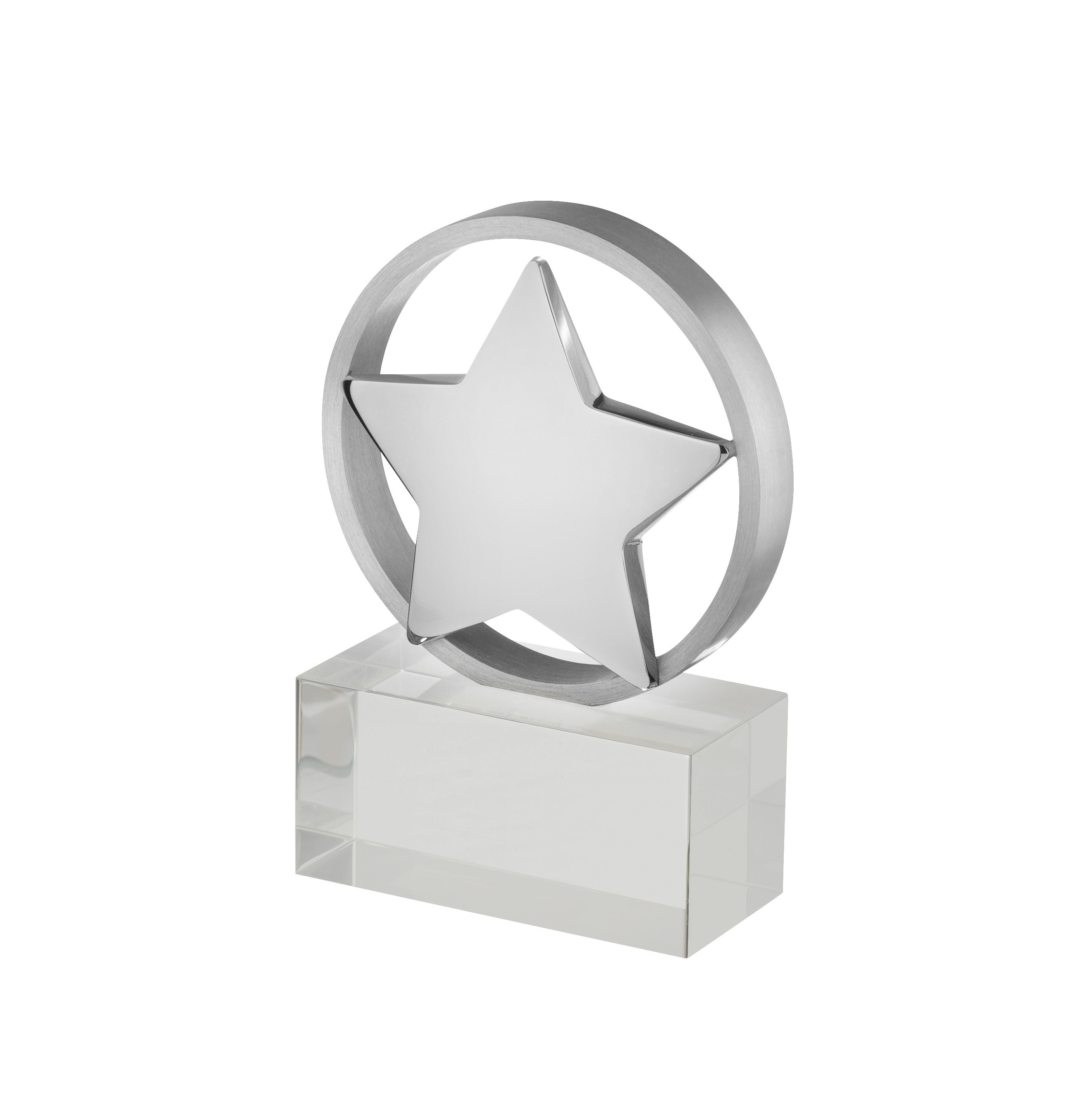 11cm Crystal Star Award in Box