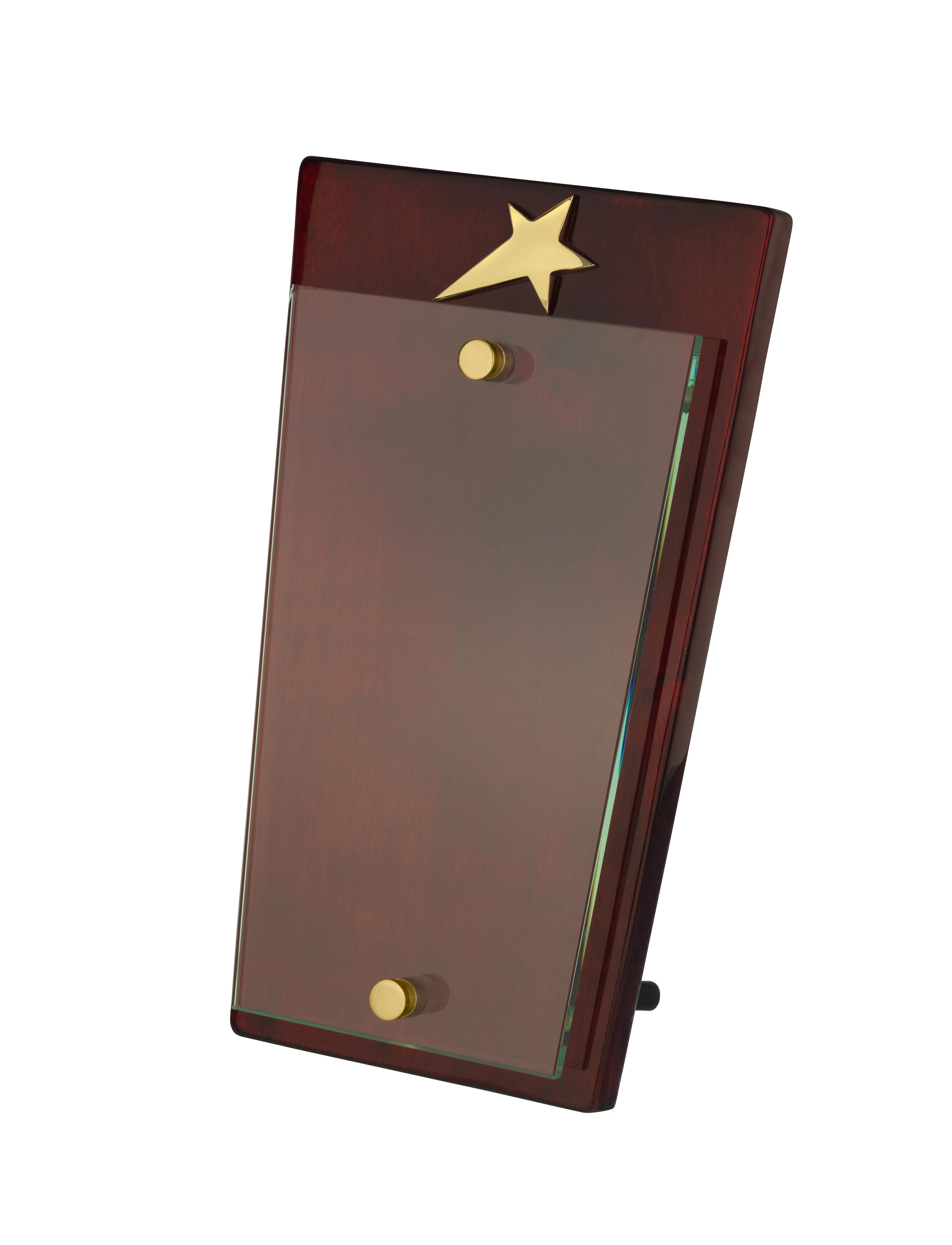 23.5cm Glass Star Award in Box