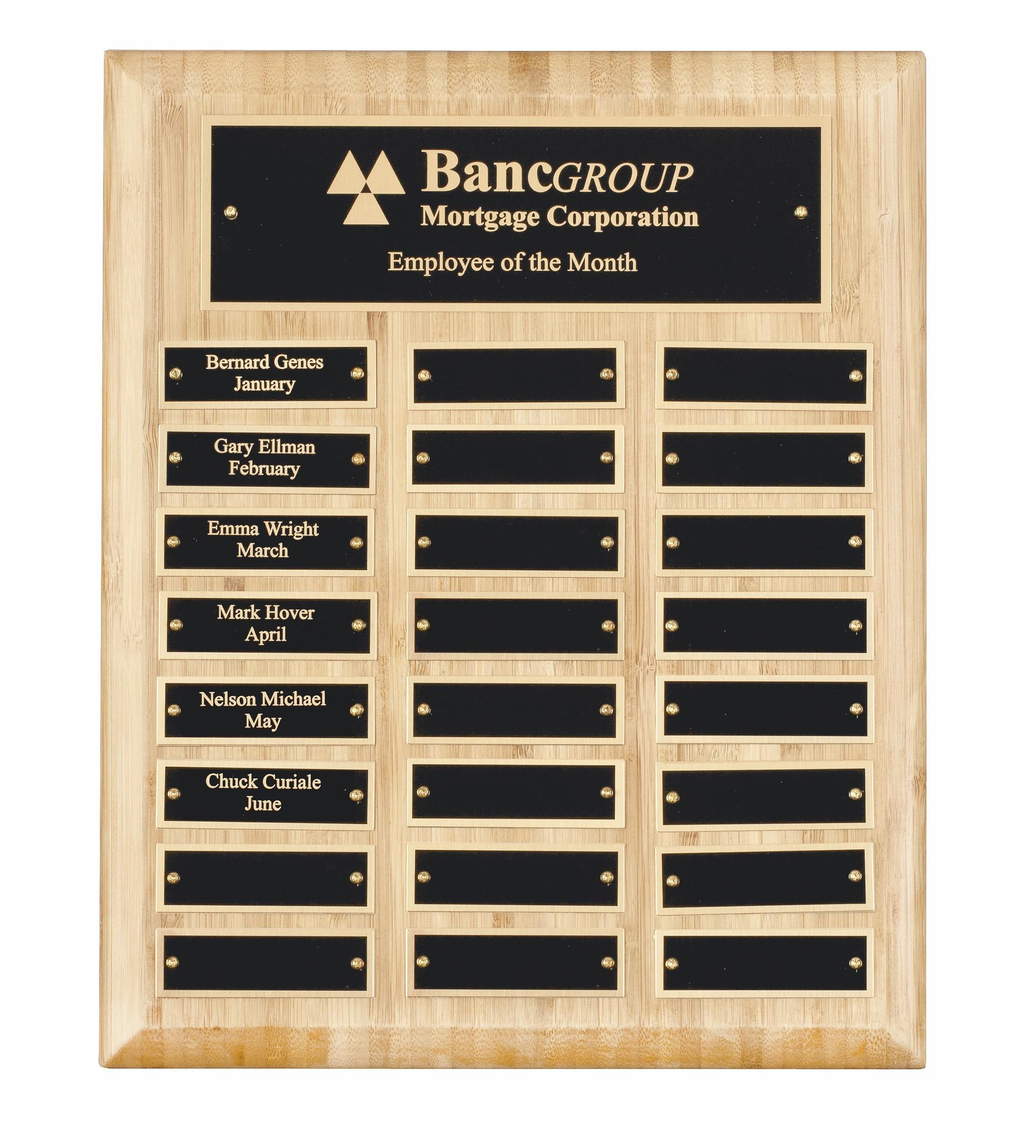 MC-Bamboo Perp Plaque