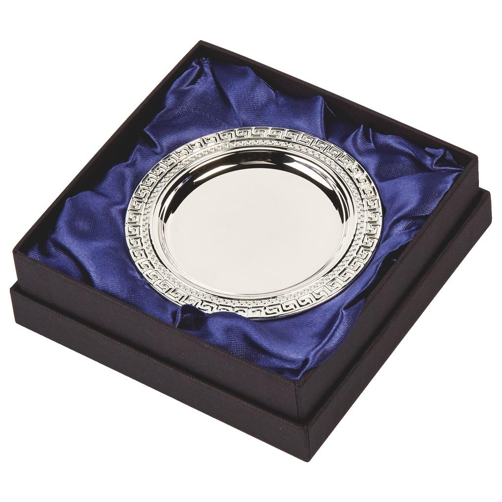 10cm Silver Plated Salver in Case