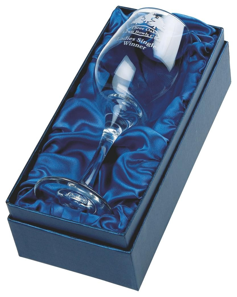 Single Wine Glass In Presentation Case In Clear Glass
