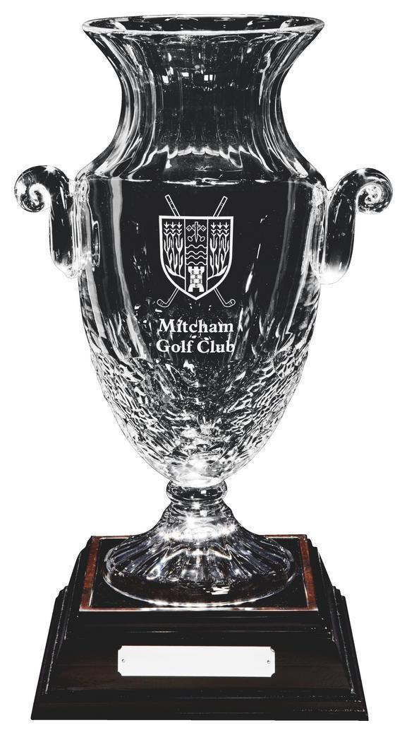 43cm Lead Crystal Vase Award