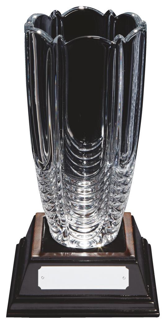 24cm Bohemia Crystalite Vase Award