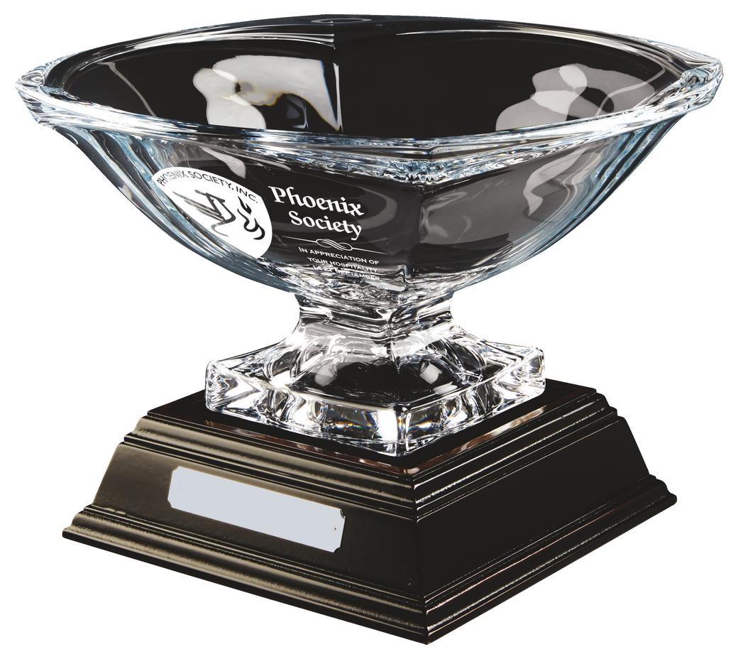 23cm Bohemia Crystalite Bowl Award with Base
