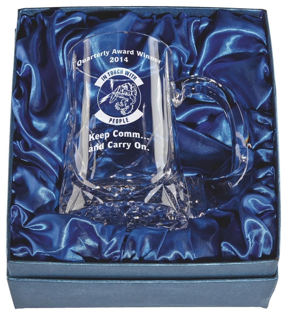 Laser Engraved 1 Pint Crystal Tankard In Presentation Case