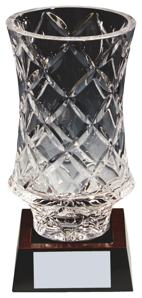 18cm Lead Crystal Vase Award