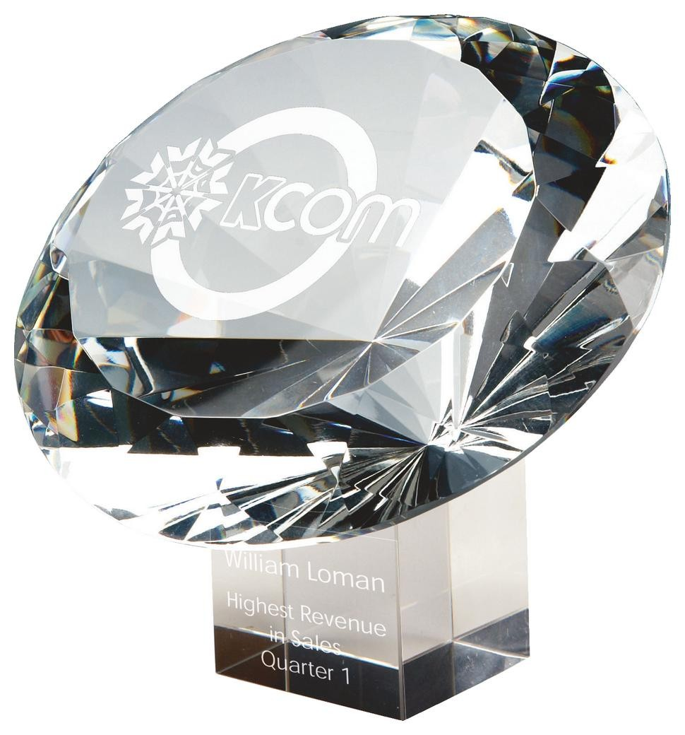 15cm Large Crystal Diamond Award