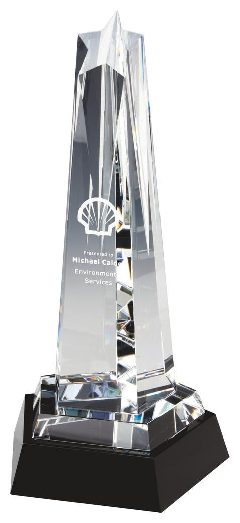 28.5cm Crystal Star Column Award