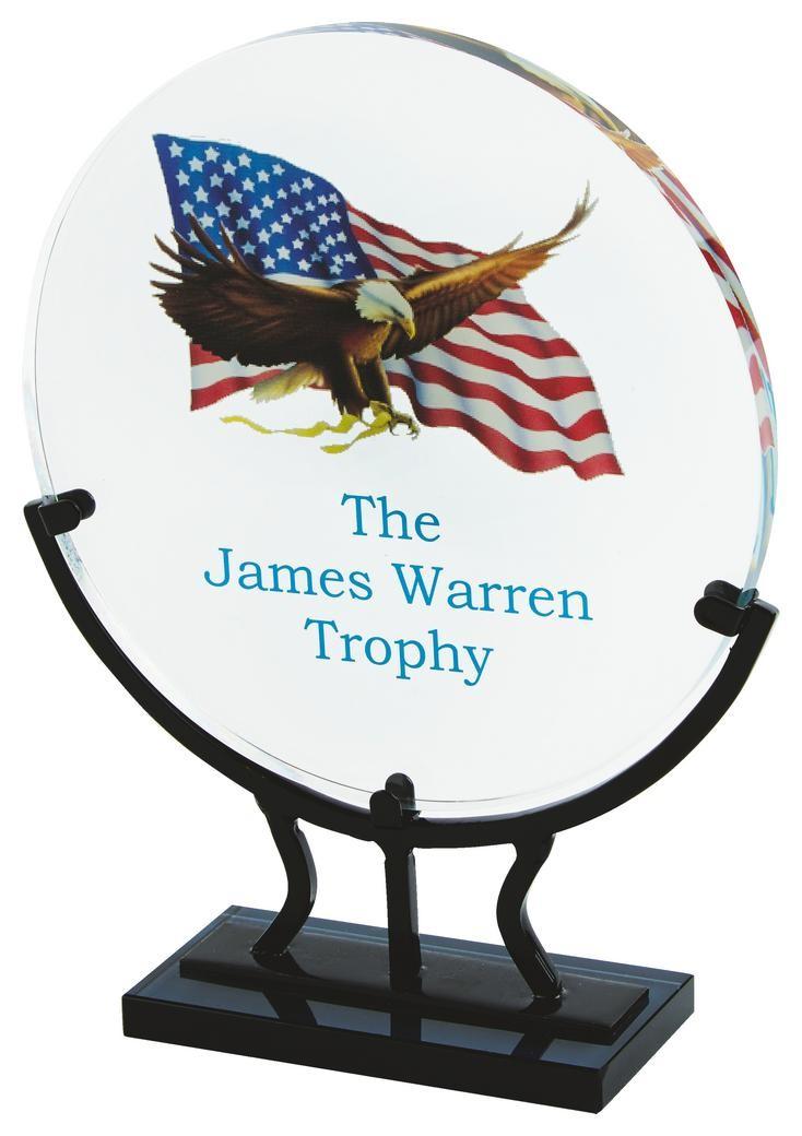 Printed 19.5cm Crystal Circle Award