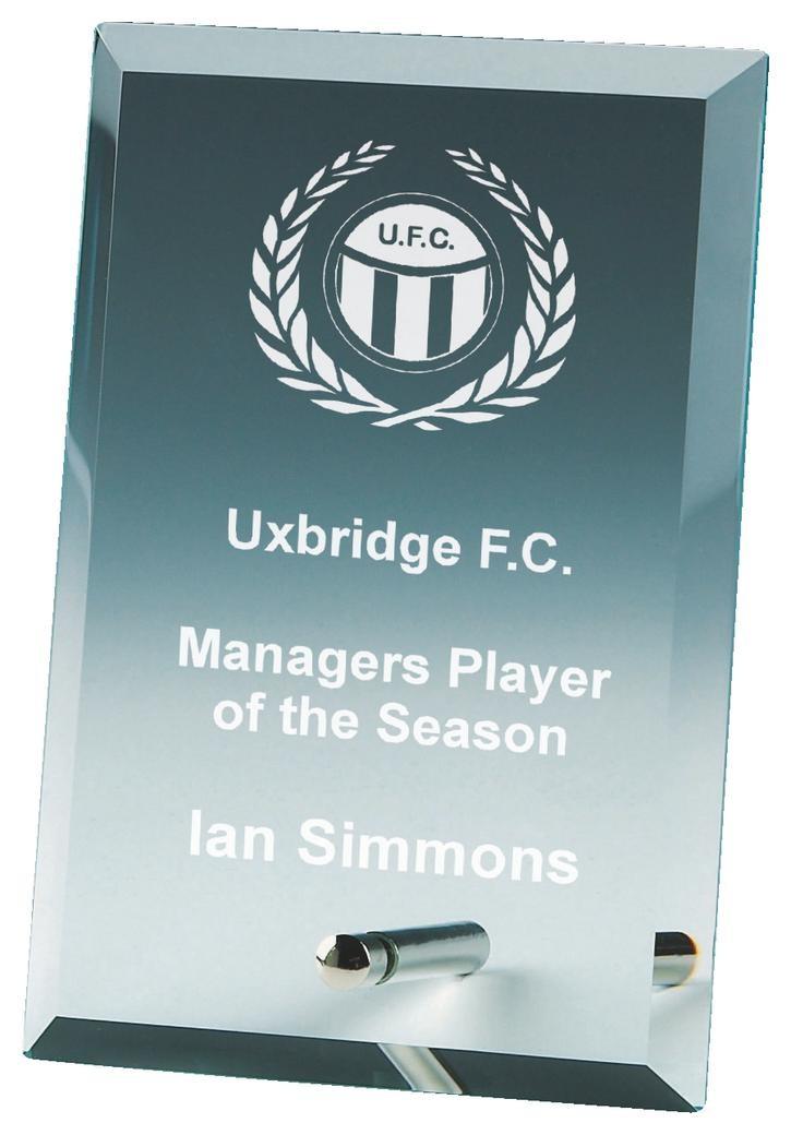 15cm Jade Glass Rectangle Award