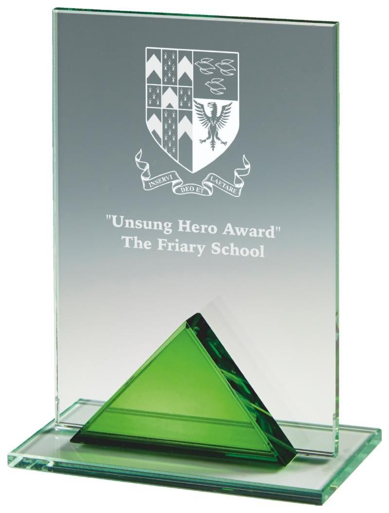 Jade Glass Rectangle Award - Available in 3 sizes