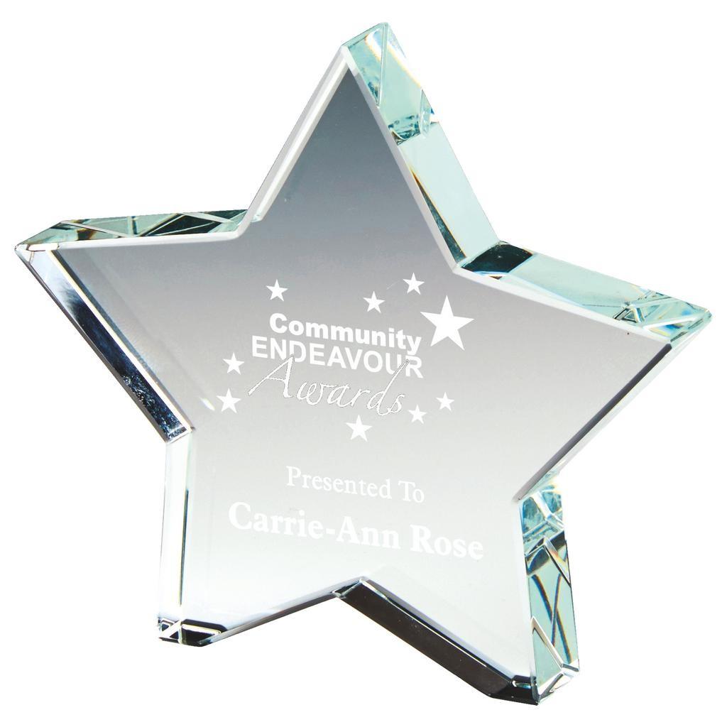 10cm Crystal Star Award