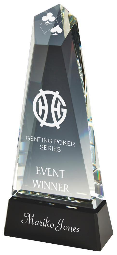 30.5cm Heavy Crystal Tower Award