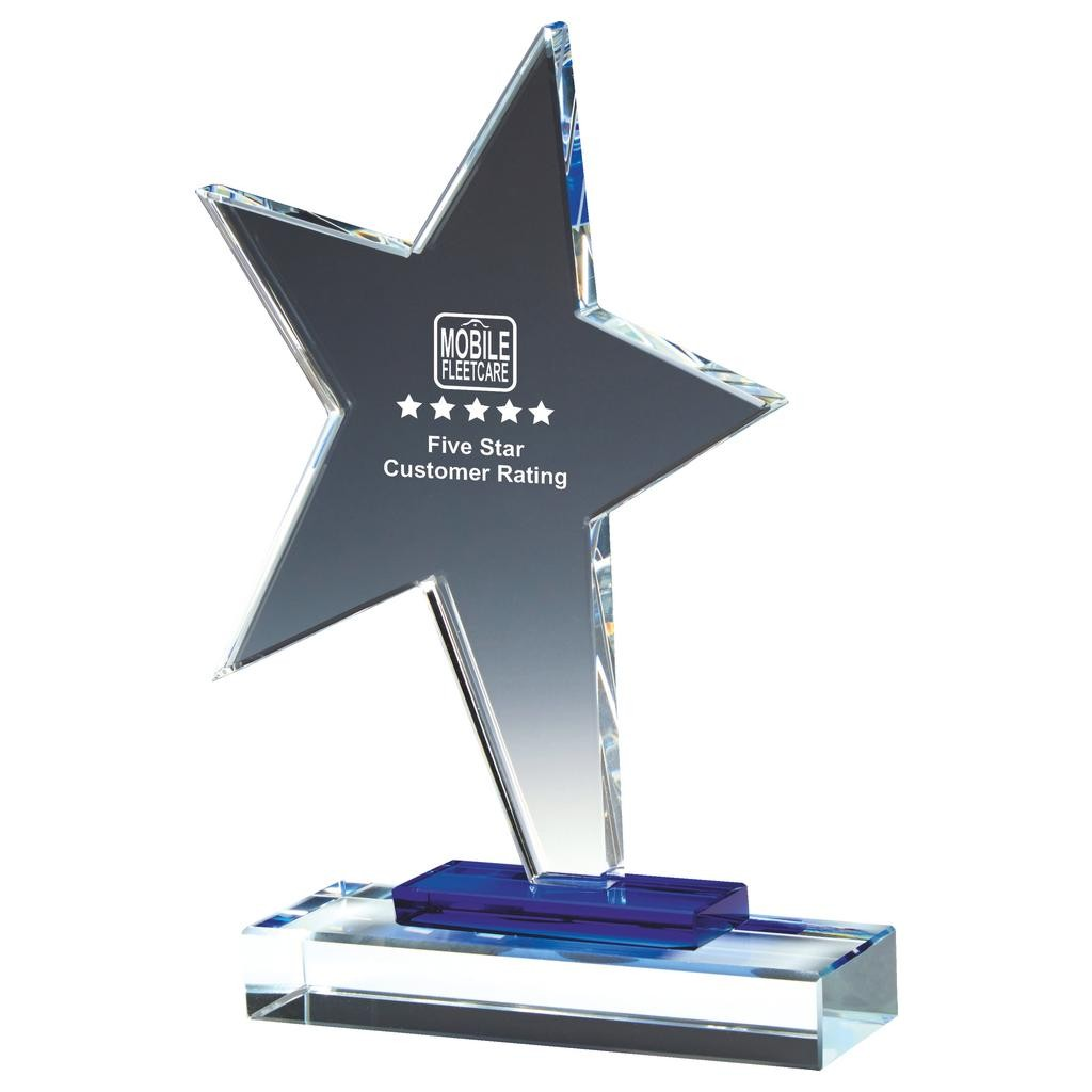 19cm Glass Rising Star Award