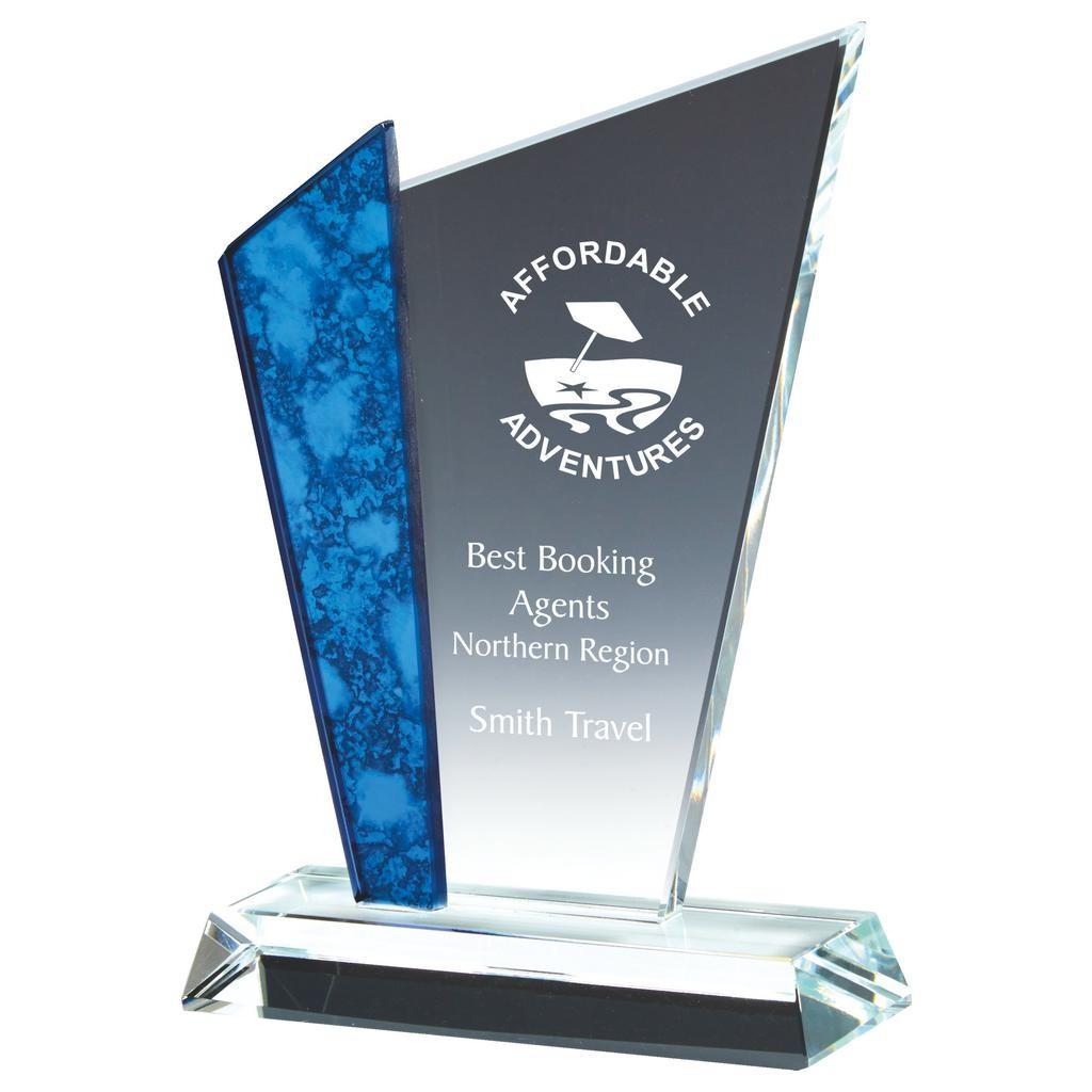 18cm Glass Upright Award