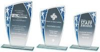 16.5cmSilver/Blue Star Budget Glass Award