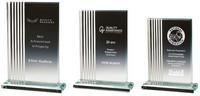 17.5cm Clear Glass Rectangle Award