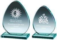 12cm Jade Glass 'Egg' Award