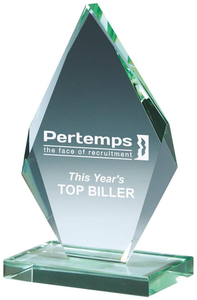 13.5cm Jade Glass Iceberg Award