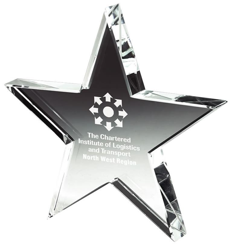 15cm Crystal Star Award