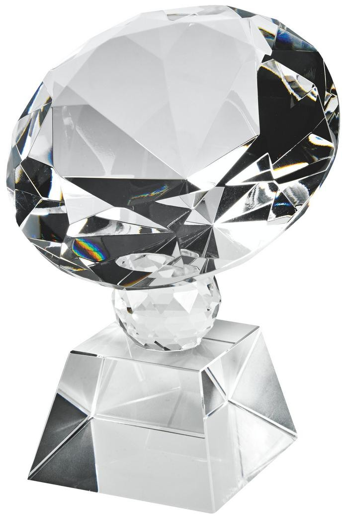 Round 13.5cm Crystal Diamond Award