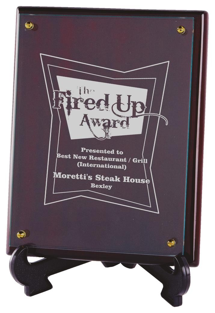 Jade Glass Wall Plaque Award